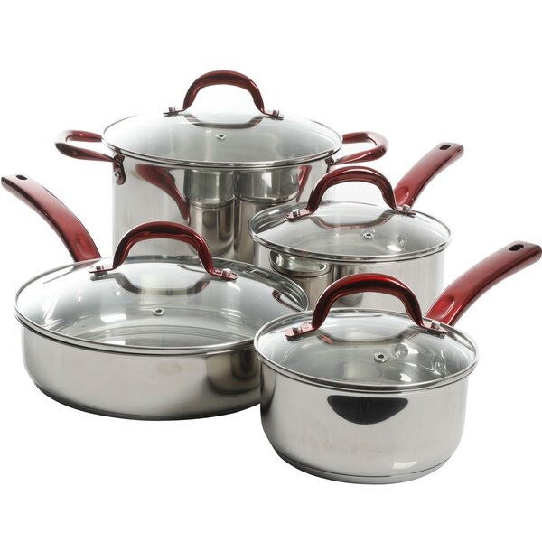Crew 8 Piece Cookware Set by Winston Porter