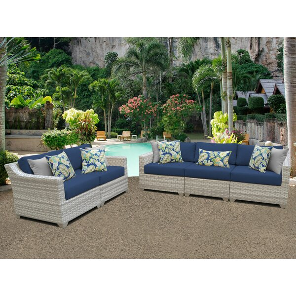 Waterbury 5 Piece Sofa Seating Group with Cushions by Sol 72 Outdoor