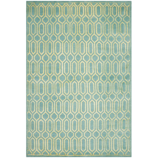 Mosaic Aqua / Light Gold Rug by Safavieh