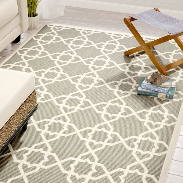 Ceri Grey/Beige Indoor/Outdoor Area Rug by Beachcrest Home