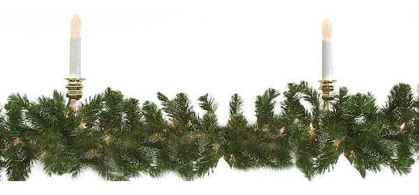 Pre-Lit Commercial Pine Artificial Christmas Garland by Darice