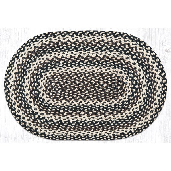 Ebony/Ivory/Chocolate Braided Area Rug by Earth Rugs