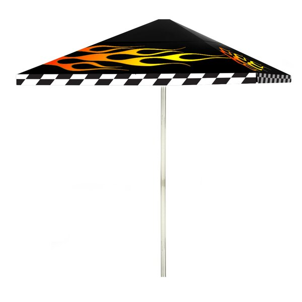 Racing Flames 6' Square Market Umbrella by Best of Times