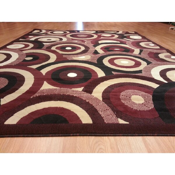 Hand-Carved Red Area Rug by Rug Tycoon