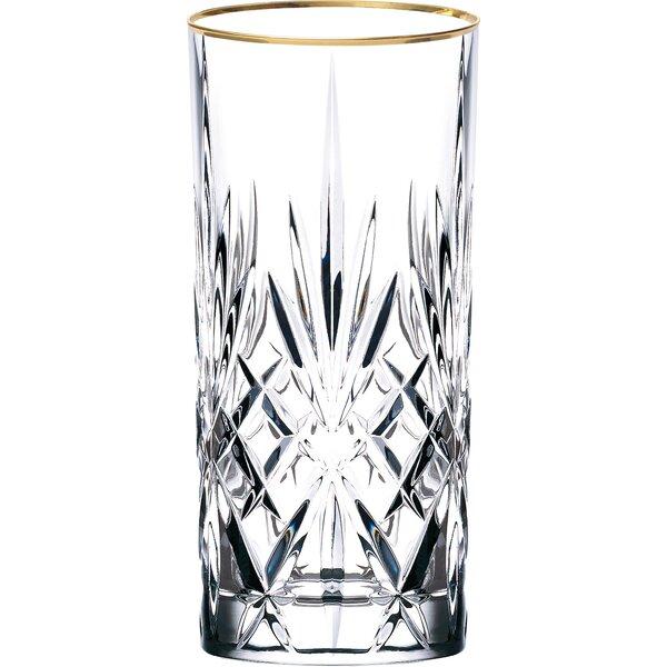 Siena Crystal Water/Beverage/Ice Tea Glass (Set of 4) by Lorren Home Trends