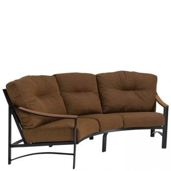 Brazo Crescent Patio Sofa with Cushions by Tropitone