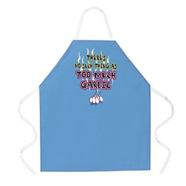 Too Much Garlic Apron by Attitude Aprons by L.A. Imprints