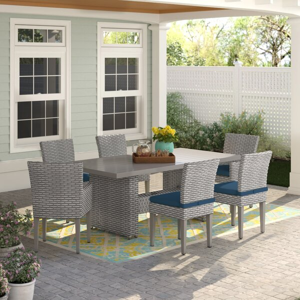 Rochford 7 Piece Rattan Dining Set With Cushions By Sol 72 Outdoor