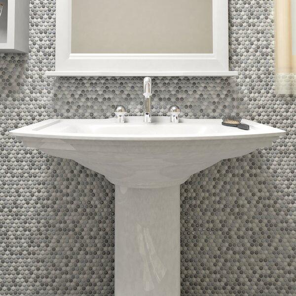 Astraea 1 x 1 Porcelain Mosaic Tile