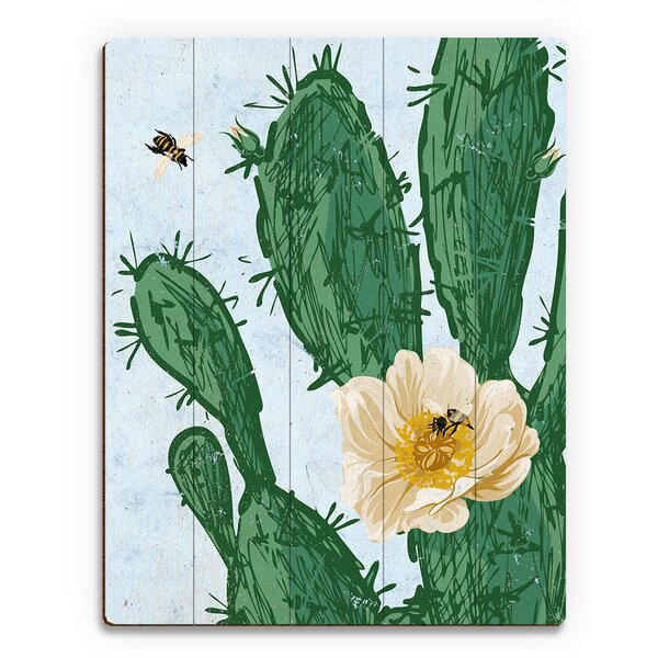 Bees and Flowers Painting Print on Plaque by Click Wall Art
