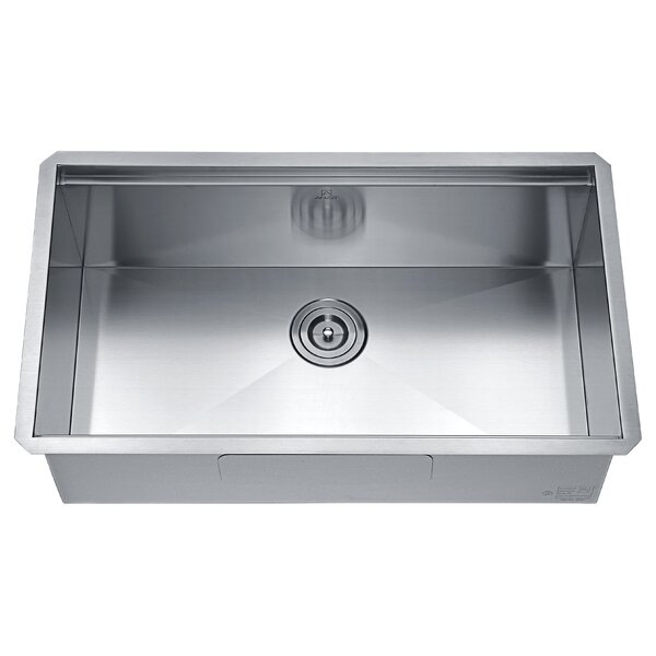 Aegis 30 L x 18 W Undermount Kitchen Sink with Basket Strainer by ANZZI