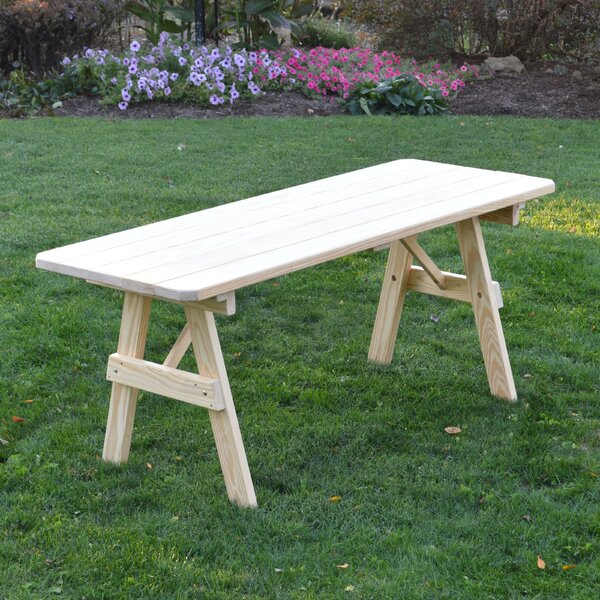 Piegan Pine Picnic Table by World Menagerie