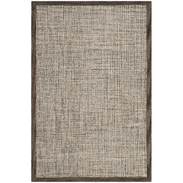 Blosser Hand-Tufted Brown/Beige Area Rug by Mercury Row