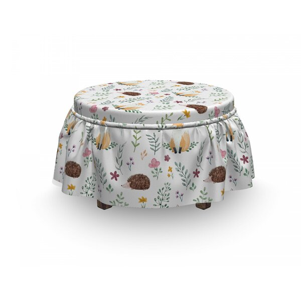 Rural Wildlife Composition Ottoman Slipcover (Set Of 2) By East Urban Home