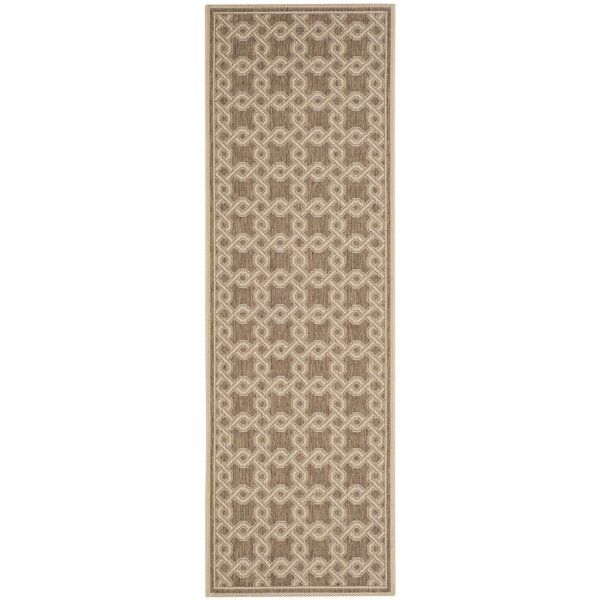 Joliet Brown/Cream Area Rug by Winston Porter