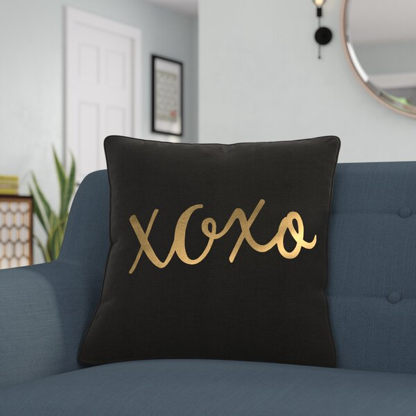 Carnell XOXO Cotton Throw Pillow by Mercury Row