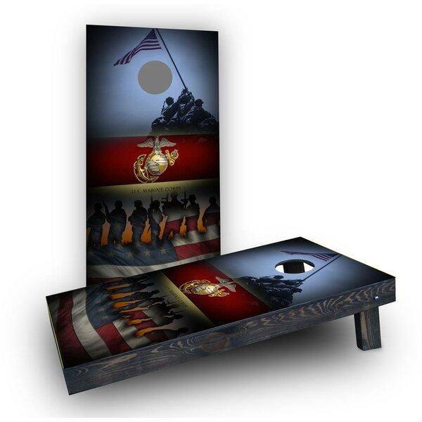 United States Marine Corps Cornhole Boards (Set of 2) by Custom Cornhole Boards
