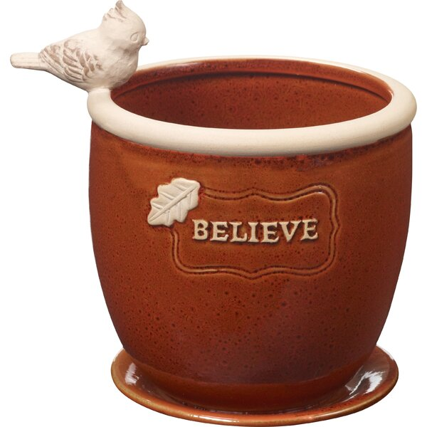 Believe Ceramic Pot Planter by Precious Moments