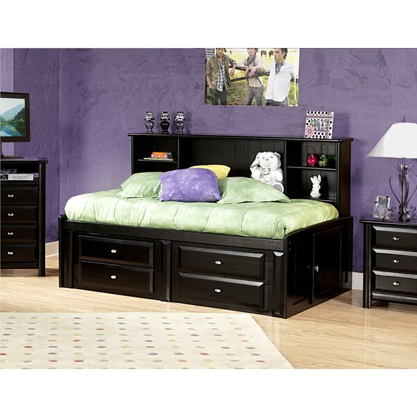 Eldon Twin Bed with Bookcase and Storage by Harriet Bee