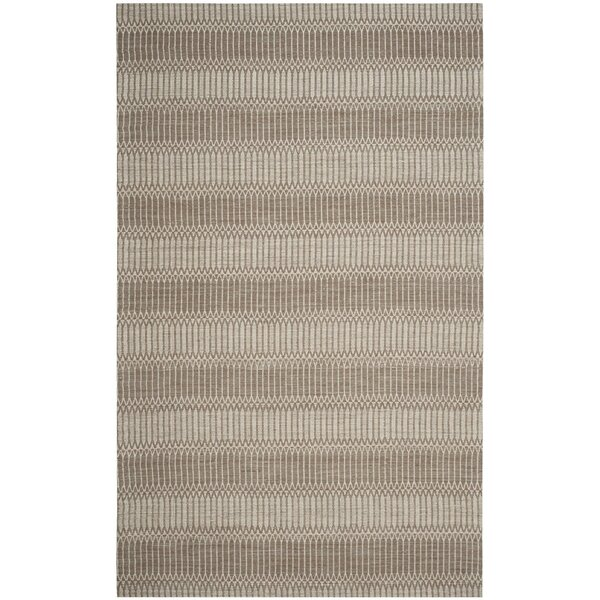 Alexandria Hand-Woven Brown Area Rug by Langley Street