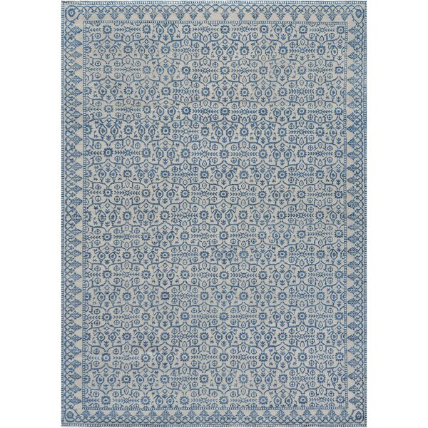 One-of-a-Kind Agra Wool Blue Indoor Area Rug by Mansour