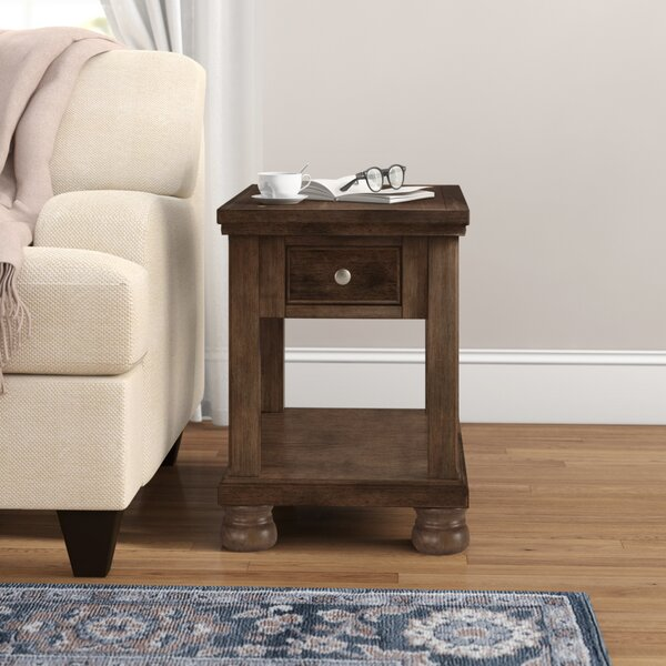 Mary End Table With Storage By Canora Grey