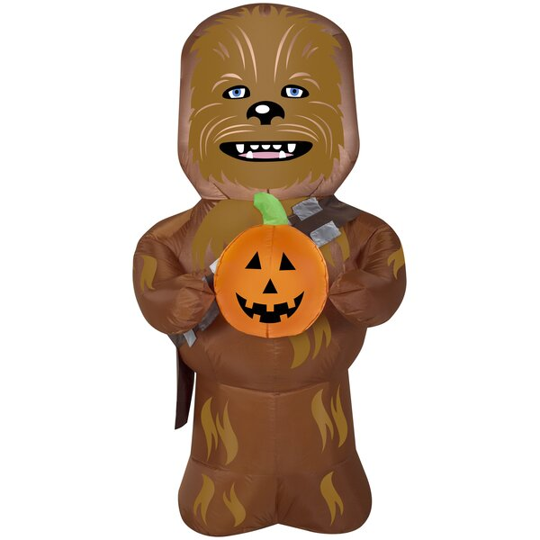 Chewbacca Inflatable with Pumpkin MD Star Wars (WM) by The Holiday Aisle