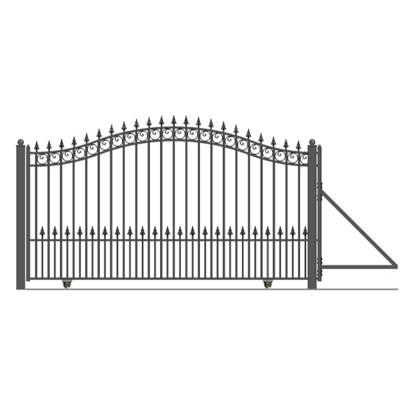 Prague Steel Single Sliding Driveway Gate by ALEKO