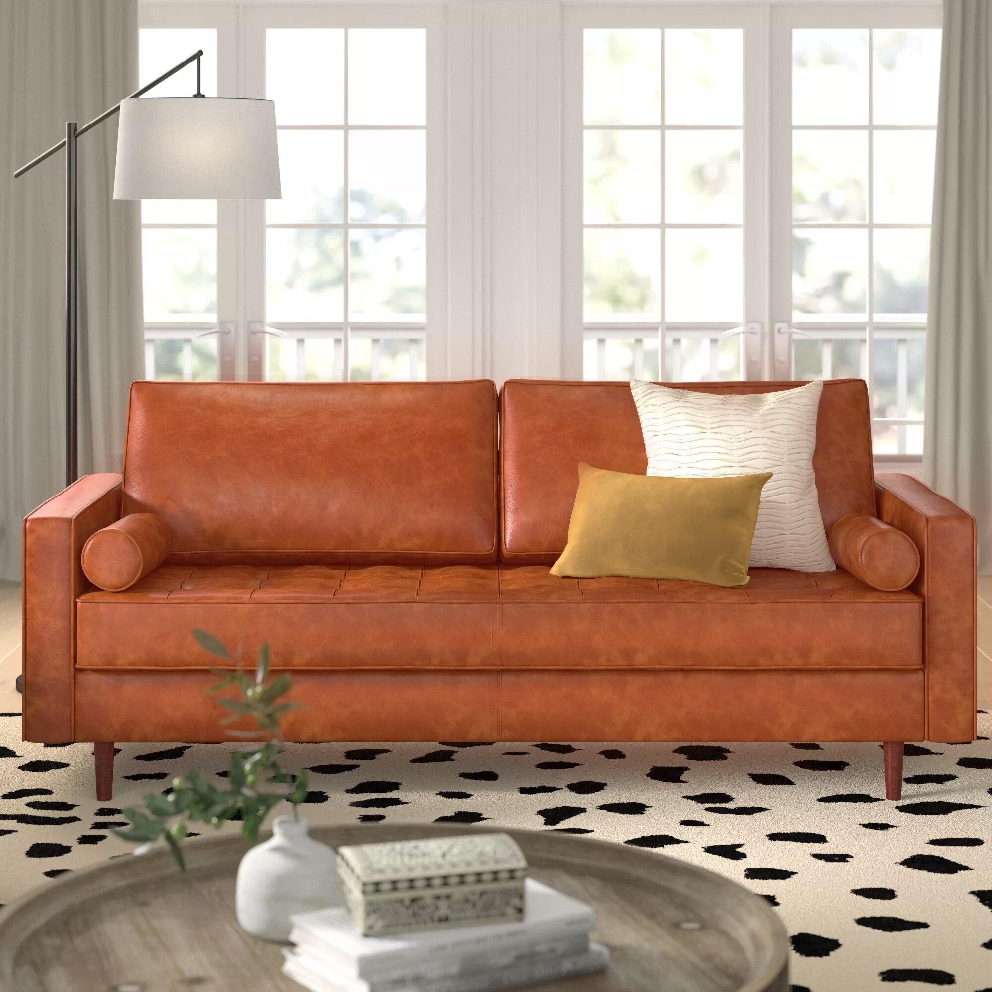 Bombay Leather Sofa