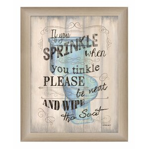'If You Sprinkle' Framed Textual Art by Trendy Decor 4U