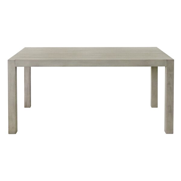 Duley Solid Wood Dining Table by Highland Dunes