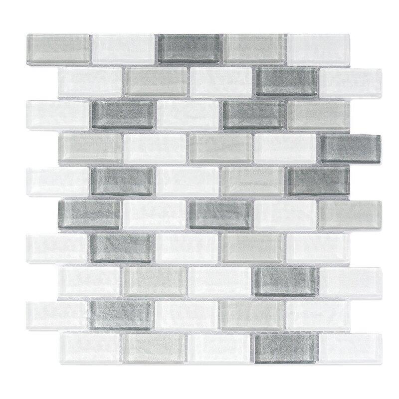 Geo 1 X 2 Gl Mosaic Tile In