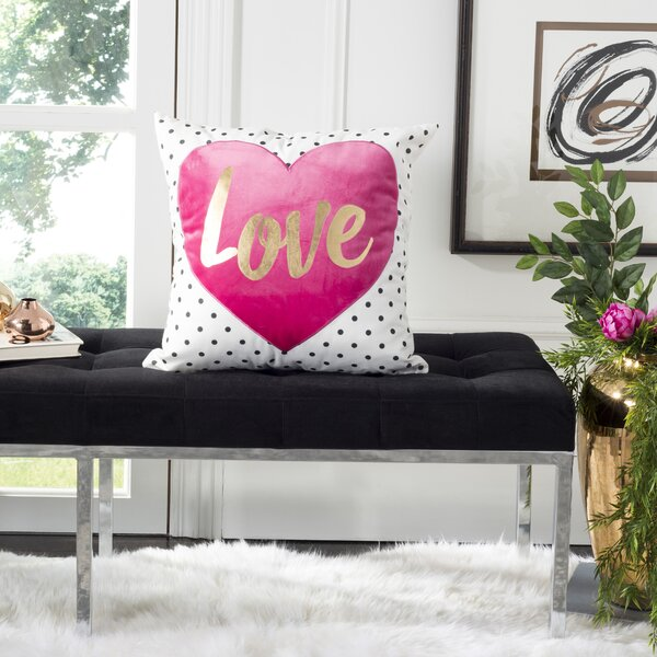 Dayne Pure Love Cotton Throw Pillow by House of Hampton