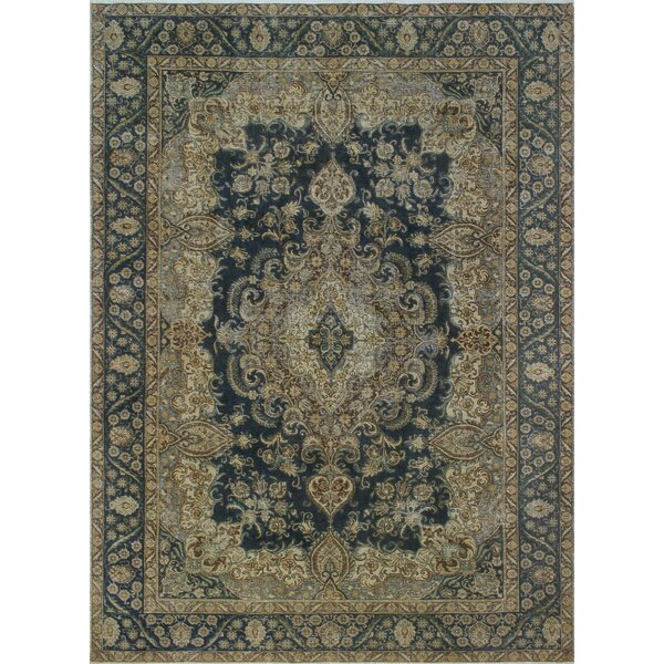 Osborne Vintage Distressed Overdyed Hand Knotted Wool Beige Area Rug by Astoria Grand