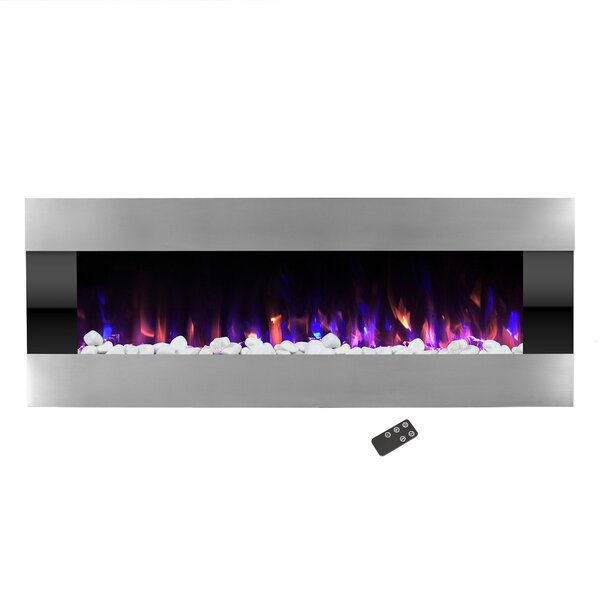 Quesinberry Wall Mounted Electric Fireplace By Orren Ellis