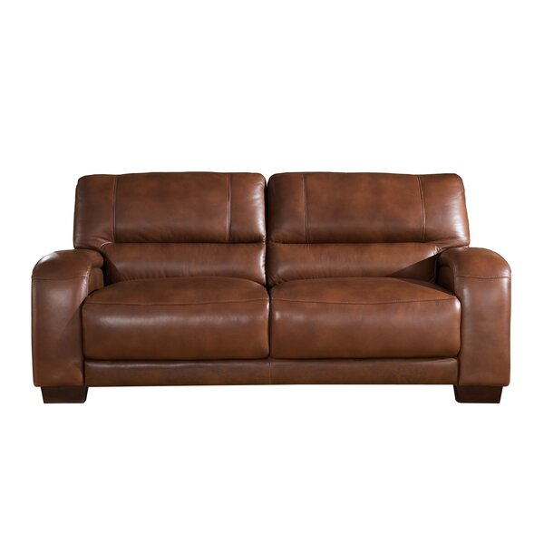 Price Comparisons Hadsell Craft Leather Sofa Get The Deal! 30% Off