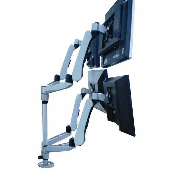 Height Adjustable 4 Screen Desk Mount by Cotytech