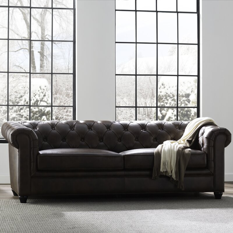 Harlem Leather Chesterfield Sofa