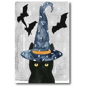 'Black Cat II' Graphic Art Print on Canvas by The Holiday Aisle
