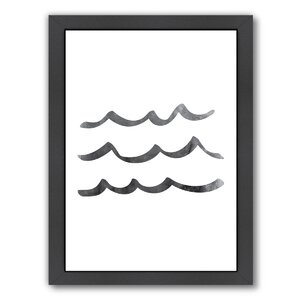 Waves Framed Graphic Art by East Urban Home
