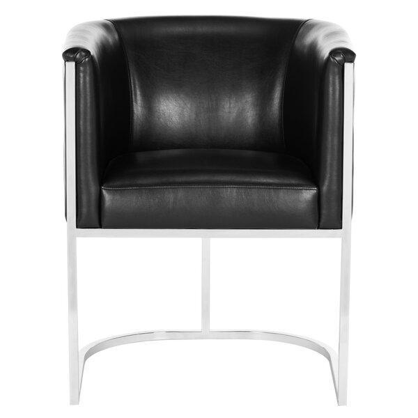 Reynaldo Leather Armchair by Willa Arlo Interiors