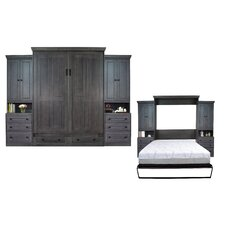 Sunset Dune Queen Murphy Bed with Bookcase by Longshore Tides