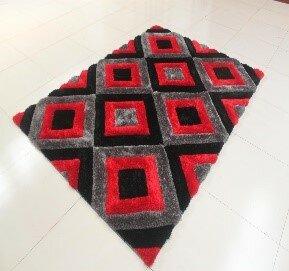 Kishor Black/Gray/Red Area Rug by Orren Ellis