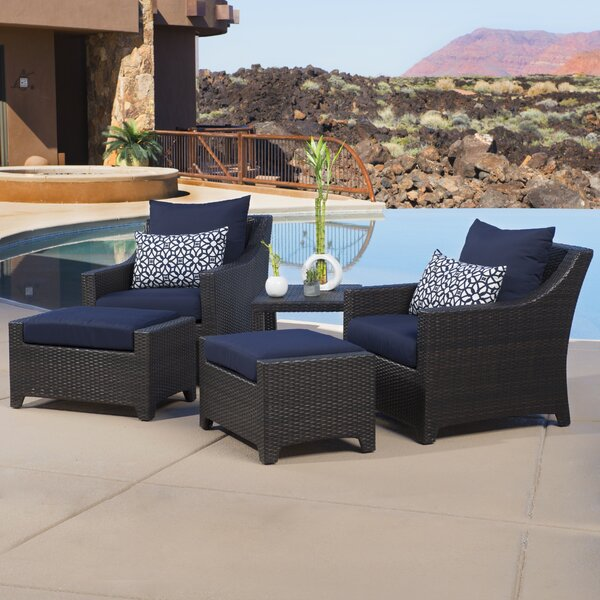 Northridge 5 Piece Conversation Set with Cushions by Three Posts