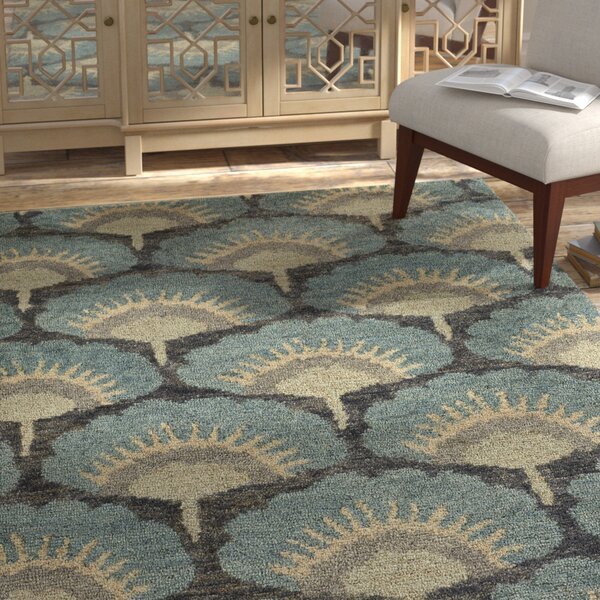 Chappell Hand-Knotted Blue Area Rug by Bloomsbury Market
