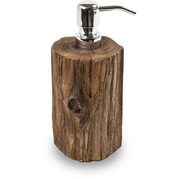Marrufo Round Salvaged Teak Wood Soap & Lotion Dispenser by Union Rustic