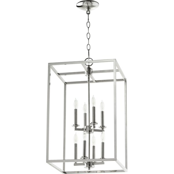 Molnar 8 - Light Unique / Statement Rectangle / Square Chandelier by Breakwater Bay Breakwater Bay