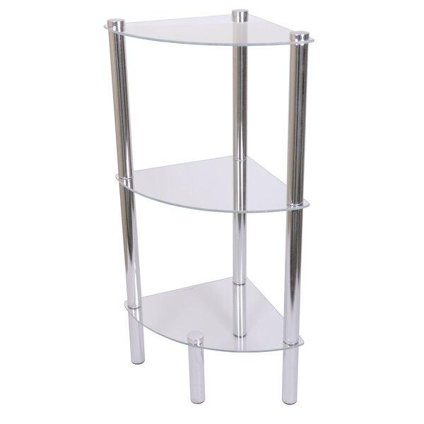Three Shelf Corner Bookcase by Home Basics
