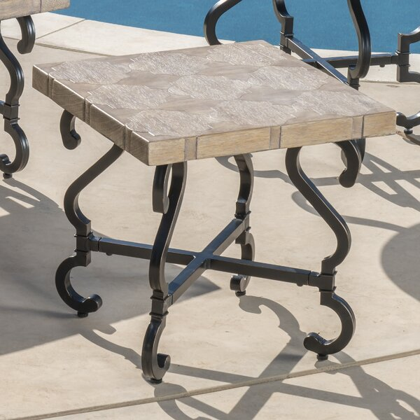 Atkinson Stone/Concrete Side Table by Fleur De Lis Living