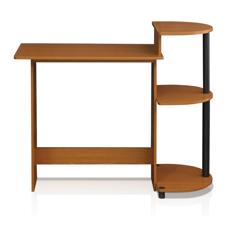 meagan compact computer desk light cherry